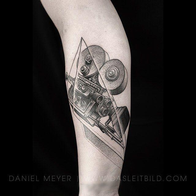 Film camera on @destinykruegar via www.dasleitbild.com // Los Angeles booking requests: contactleitbild@gmail.com  #filmcamera #camera #moviecamera #losangeles #california #tattoo #leitbild #theinkedlife #tattoo2me #skindeepmagazine #inked #theartoftattooing #support_good_tattooing #tattoos_of_instagram #tattrx  #tattooinkspiration #tattoofanatix #blackworkerssubmission #tattoodo #germantattooers
