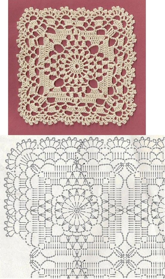 pretty lacy frilly crochet motif!