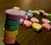 Heart stack challenge....great fine motor skill of Valentine's Day and Preschool Lesson Plan
