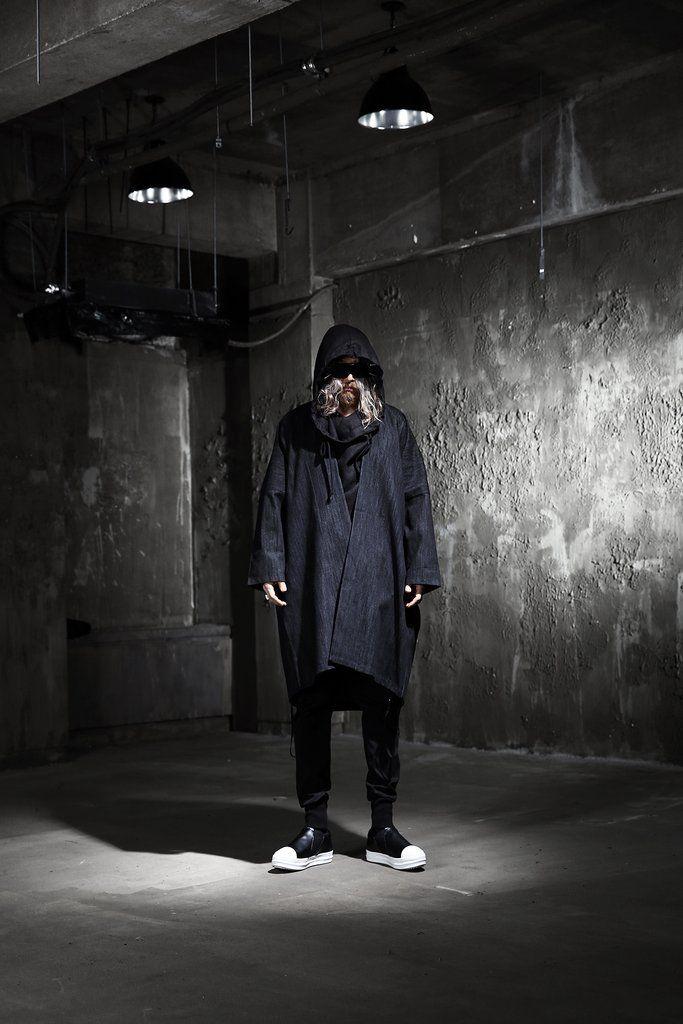 Dark Boxy Open Coat