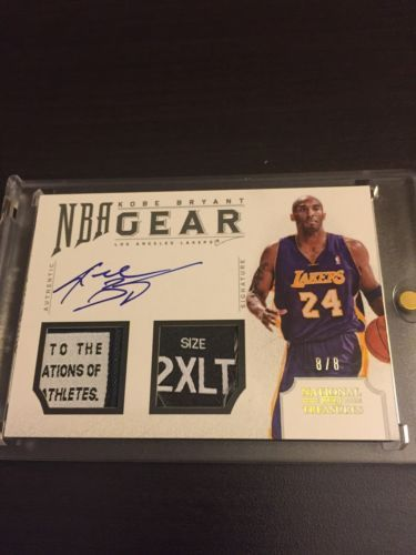 ee34b49edba 12-13 NATIONAL TREASURES KOBE BRYANT NBA GEAR AUTO TAG PATCH LOGO 8 8! 1 1   8!