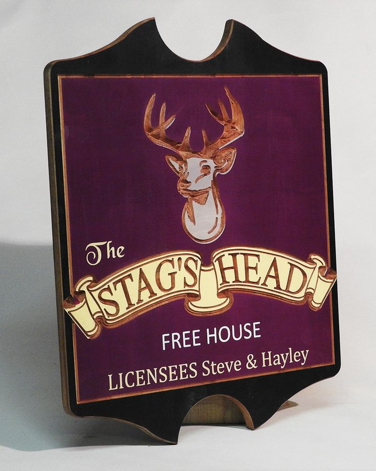 Personalised Pub sign , carved and hand painted,  Bar sign, tavern plaque, custom made, English Pub sign by MikesFineDesigns on Etsy