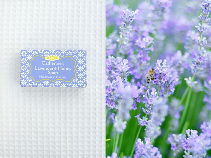 Catherine's Lavender and Honey Soap from the lavender produced at Catherine's Vineyard Cottages in Csákberény, Hungary.