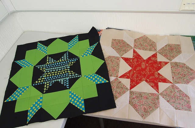 Leanne and Penny's blocks by ImAGingerMonkey, via Flickr: Quilts Patterns, Pennies Blocks, Patches Work, Quilts Carpenters, Blocks Buster, Quilts Design, Penny Blocks, Carpenters Stars, Swoon Carpenter Wheels