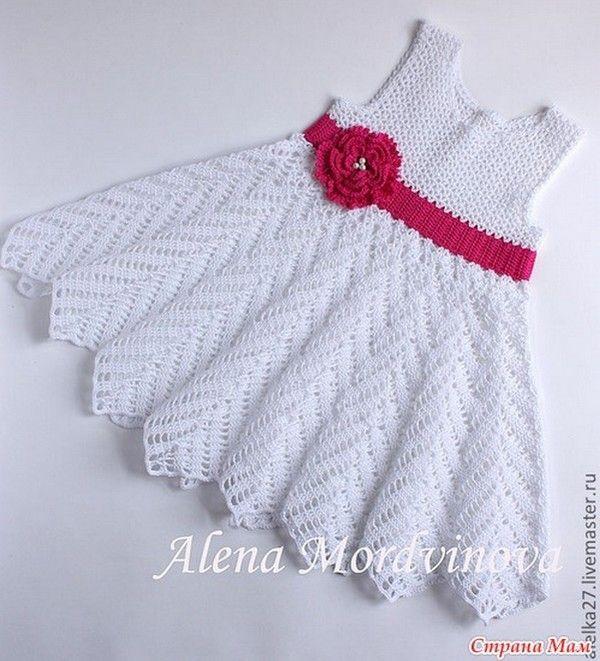 Robes - Modèles pour Bébé au Crochet | Crochet | Pinterest | Robes ...