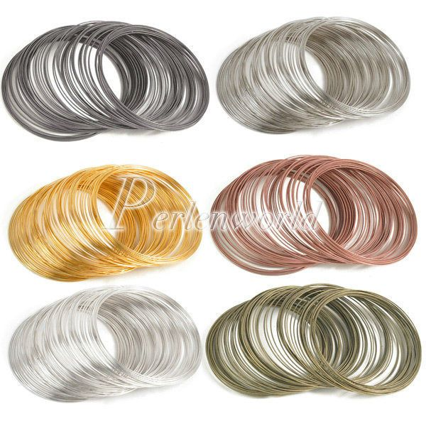 100 loops steel memory wire - 6 colors available $1.75 + free S&H (SALE!!! $1.66)