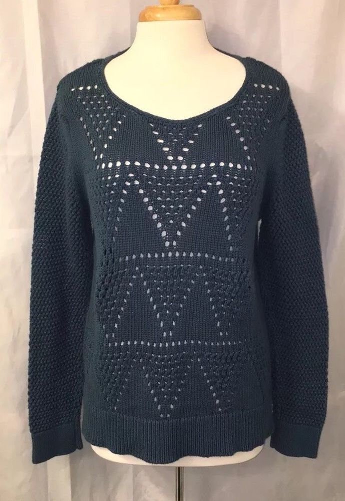 f7344e1057197c LOFT Green Chunky Cable Knit Cotton Pullover XL #fashion #clothing #shoes  #accessories #womensclothing #sweaters (ebay link)