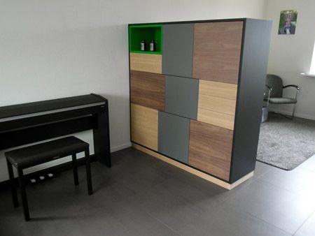 Kast En Bureau : Roomdivider kast met bureau aan de andere zijde kast op maat