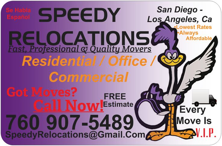 Speedy Relocations San Diego Moving Company  The Best Movers In  San Diego  Locally Owned  Call Us Now! (760)907-5489