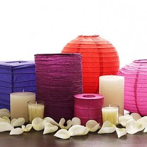 Another cute idea if you still want to do candles. I would find them in the party colors. Might be something fun for her friends to take home at the end of the night too to hang in their bedrooms.