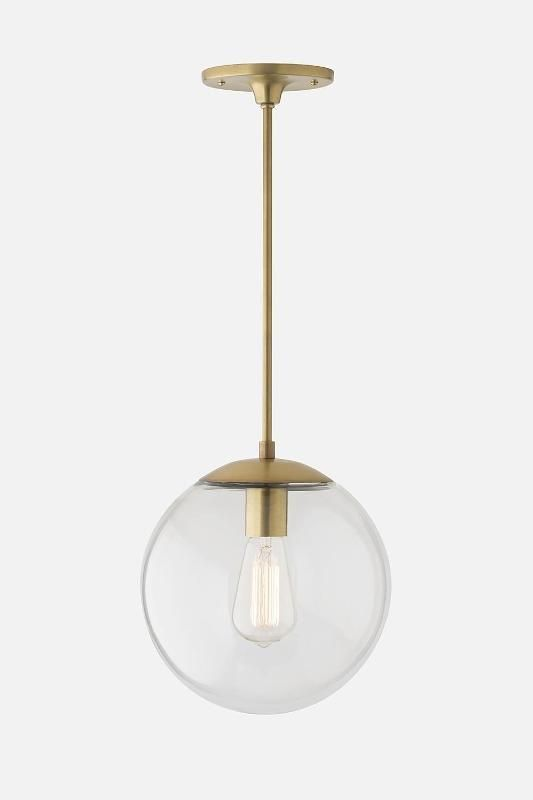 "Luna Clear with Natural Brass Rod - 10"" or 12"" / Schoolhouse Electric"