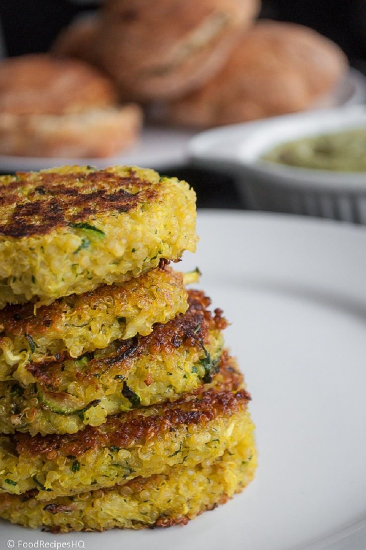 "Quinoa/zuchini cakes, plus lots of quinoa recipes..breakfast ""sundae"" sounds soo"