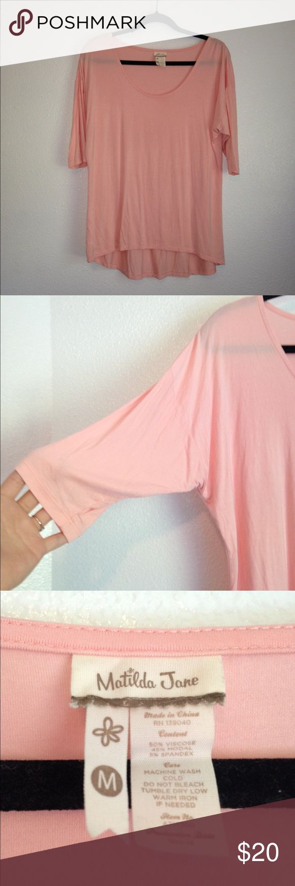Matilda Jane Top Matilda Jane pale pink batwing top. Super soft and lightweight. Matilda Jane Tops
