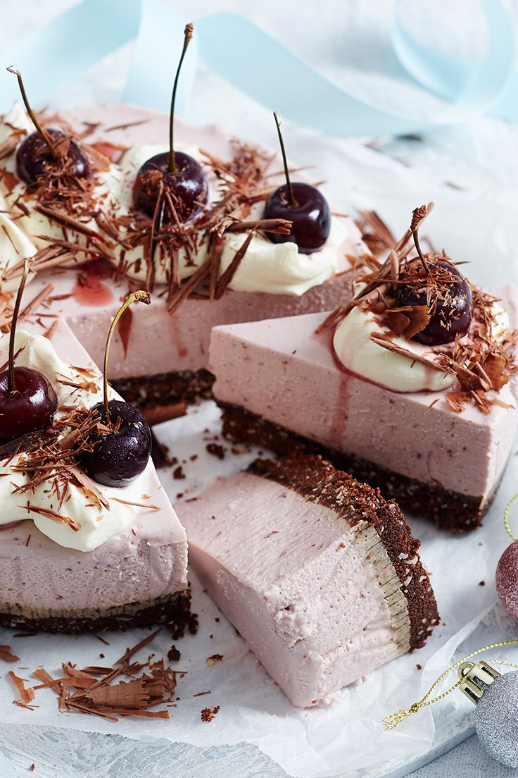 Make the most of in-season cherries with this chocolate, coconut and cherry cheesecake. It's the perfect decadent finale to any festive meal this holiday season.