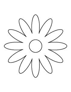 Daisy pattern. Use the printable outline for crafts, creating stencils, scrapbooking, and more. Free PDF template to download and print at http://patternuniverse.com/download/daisy-pattern/