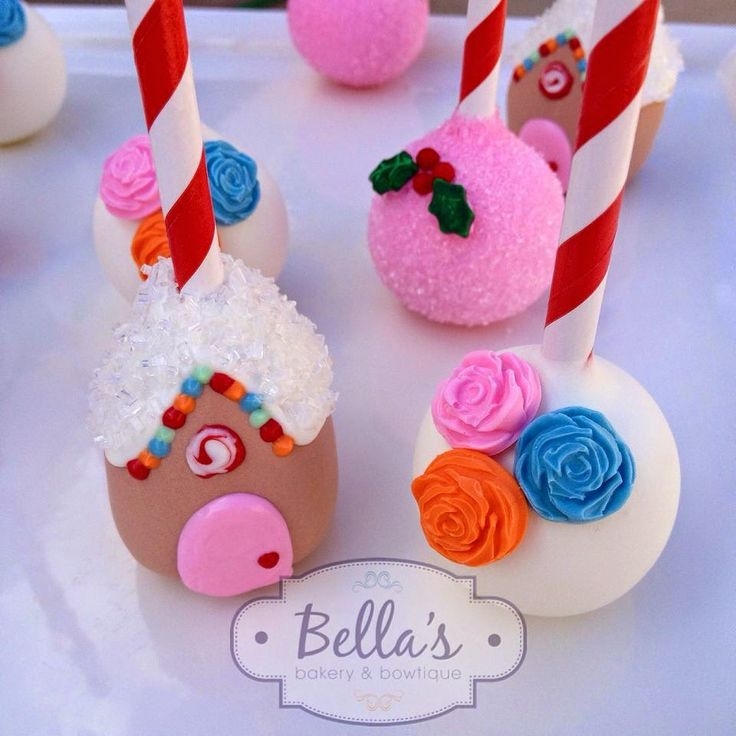 Christmas Cake Pops Pictures