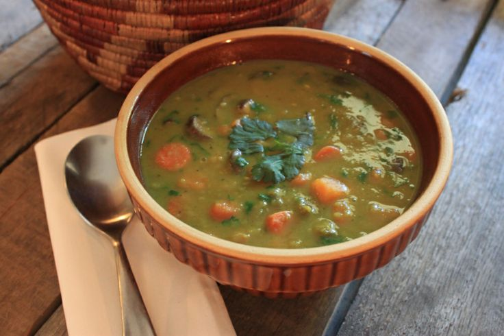 Curried Coconut Split Pea Soup from the Cavender Diary