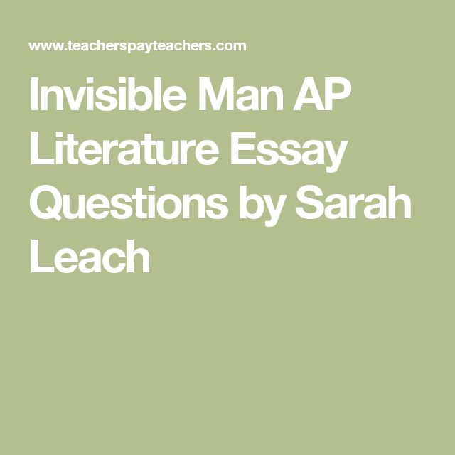 invisible man essay topics Invisible man ellison research papers explain, in the book, a number of issues that were important to african-americans at the time.