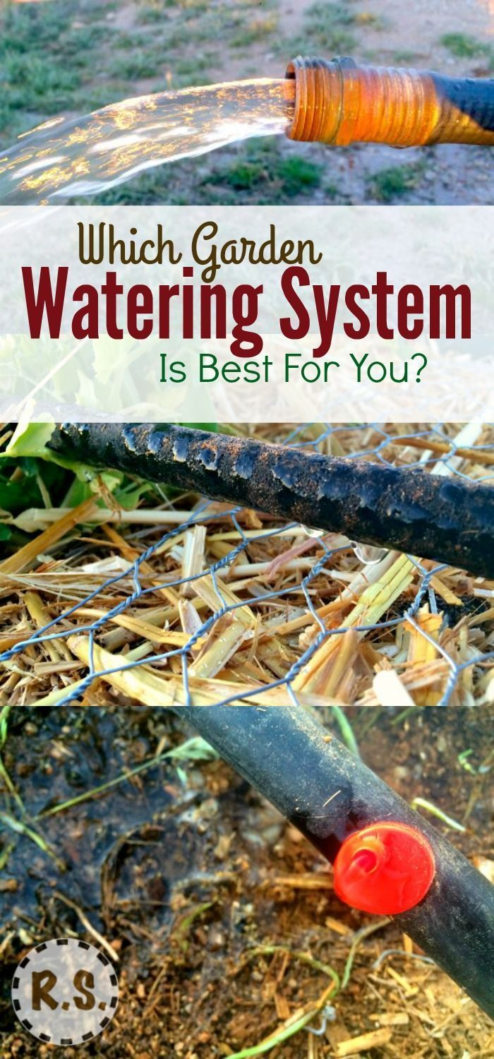 Garden watering systems homesteading etc garden watering system water garden garden for How to water a garden