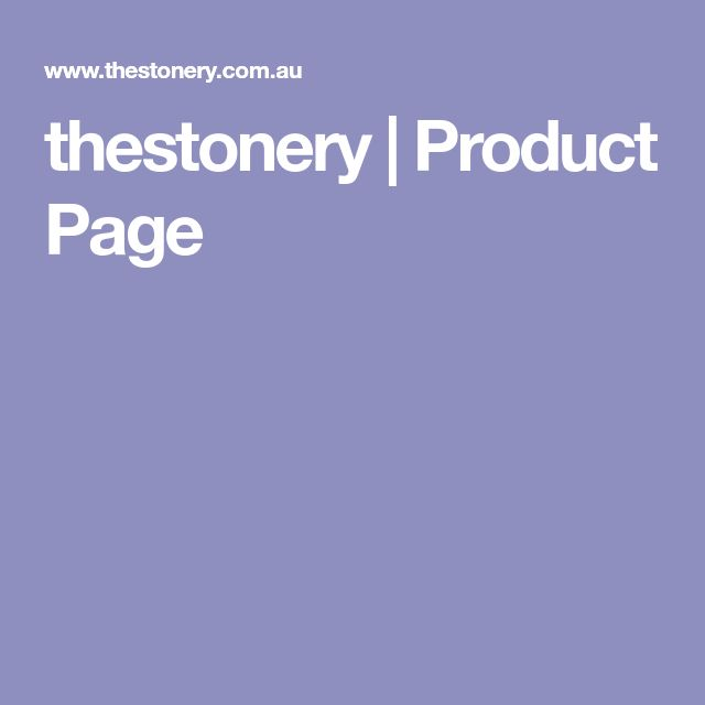 thestonery   Product Page