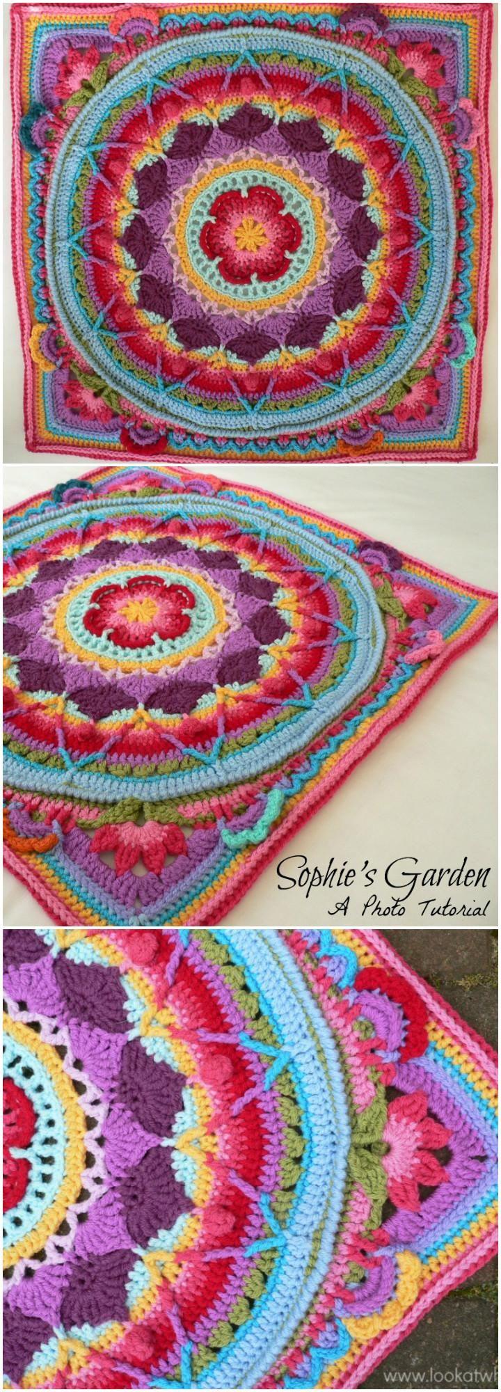 Sophie's Garden Crochet Mandala - 60 Free Crochet Mandala Patterns - DIY