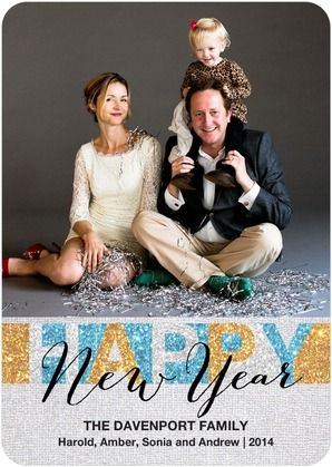 Sparkle and shine into the New Year with this 'Sparkling Delight' New Years Card