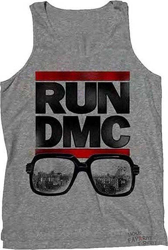 Run DMC City View Glasses Men's Tank Top Muscle Shirt, Grey