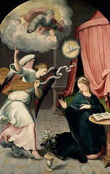 "Nos encontramos ante un cuadro titulado ""Anunciación"", realizado por Juan Correa de Vivar en 1559"