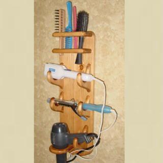Hair Dryer Bathroom Caddy - Flat Iron - Curling Iron - Hair Dryer - Brush Holder