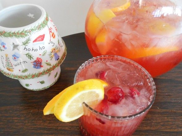 The Food Explorer's Favorite 50+ Alcoholic & Non-Alcoholic Christmas Punch Recipes: Cranberry Christmas Punch from Bette Lee Crosby