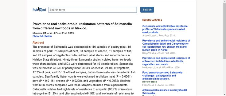 Prevalence and antimicrobial resistance patterns of Salmonella from different raw foods in Mexico. - PubMed - NCBI