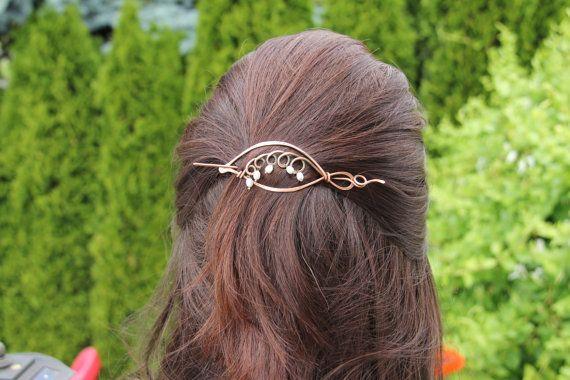 Shawl pin scarf pin hair slide hair barrette di Keepandcherish