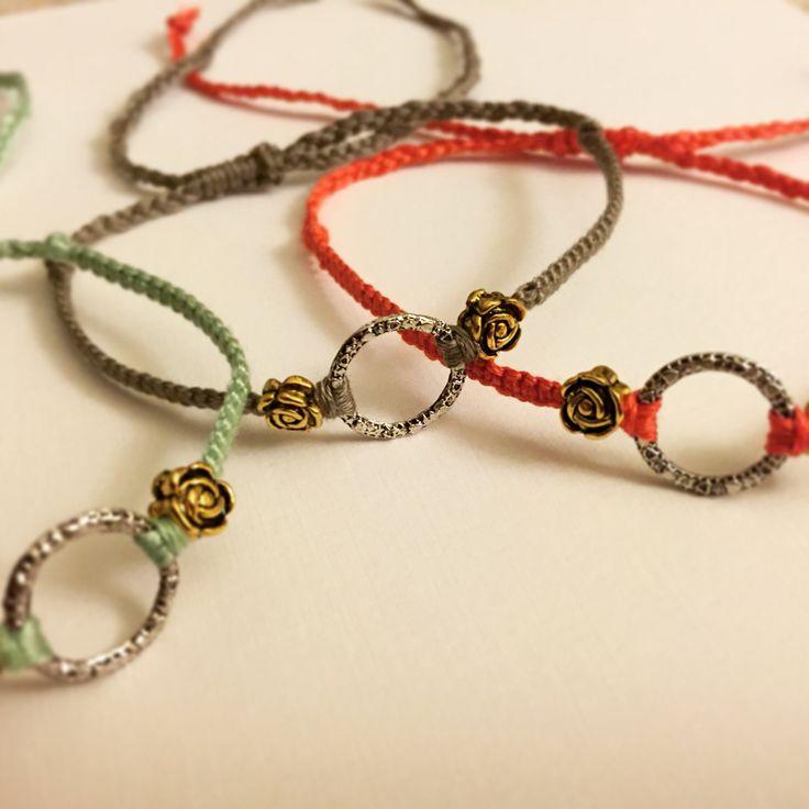 Gorgeous customised macrame bracelet