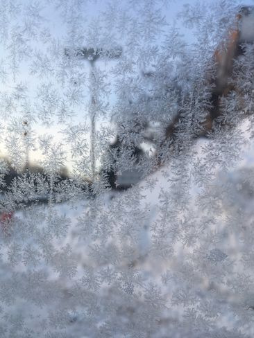 Magnifique fenêtre givrée Repentigny, Québec, CA