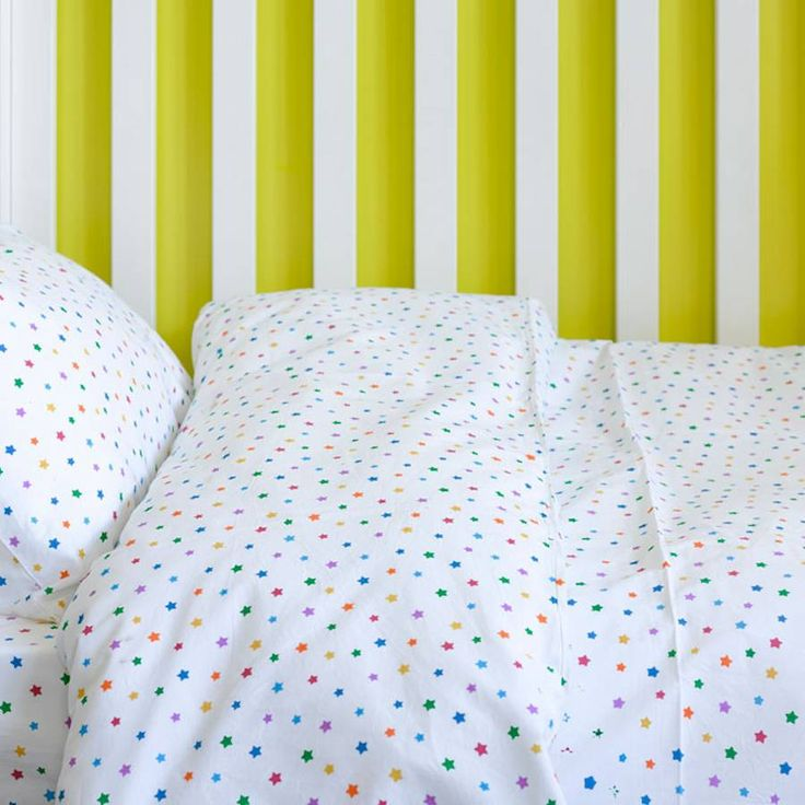 Multicolour Star Toddler Cot Bed Duvet Set from notonthehighstreet.com