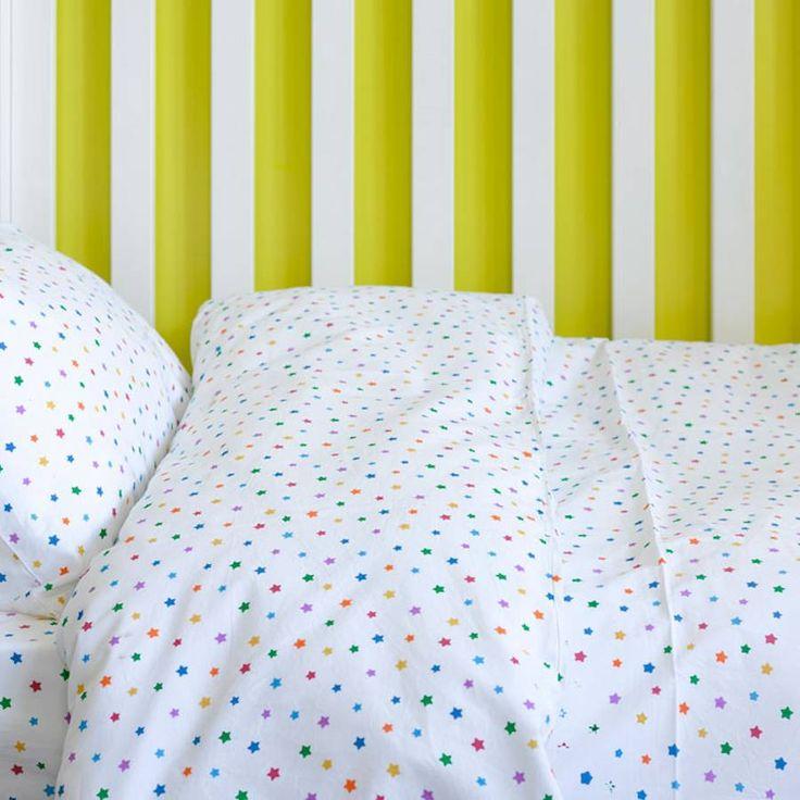 Multicolour Star Toddler Cot Bed Duvet Set from notonthehighstreet.com