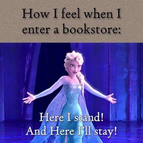 When we enter a bookstore! !