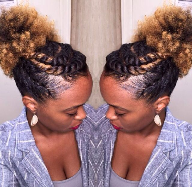 17 Best images about Curly Inspirations... on Pinterest | Bantu knot out, Flat twist and Braid out