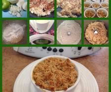 Apple and custard crumble- Thermomix