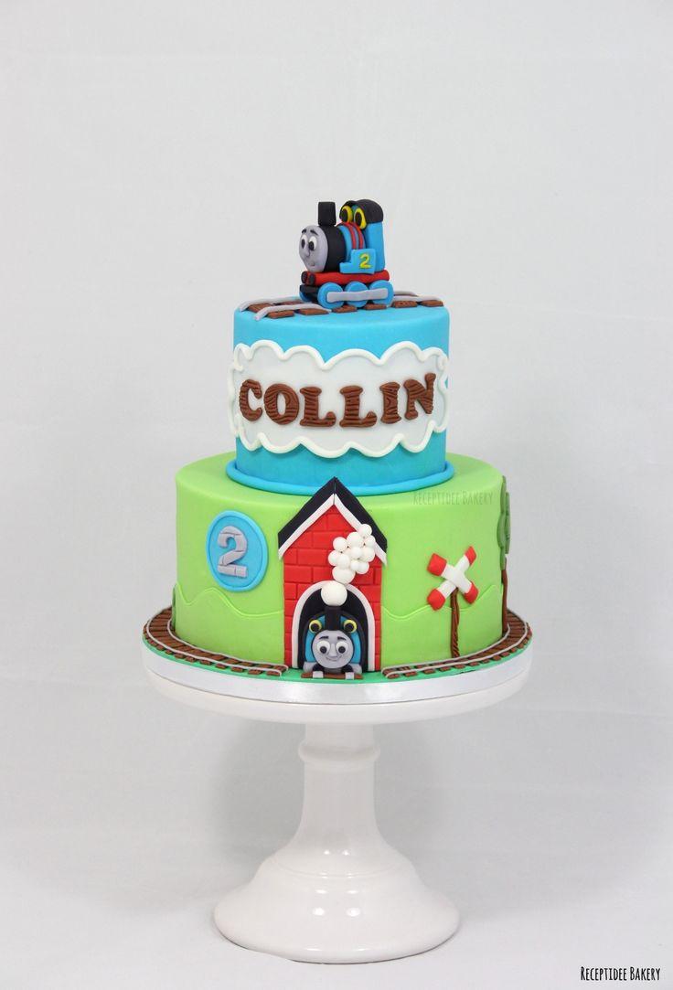 Thomas de Trein taart  Gefeliciteerd Collin met je 2e verjaardag! http://bakery.receptidee.nl #thomasthetrain #thomasdetrein #kinderverjaardag #kindertaart #taart #verjaardagstaart #kinderverjaardagstaart #treintaart #trein #birthday