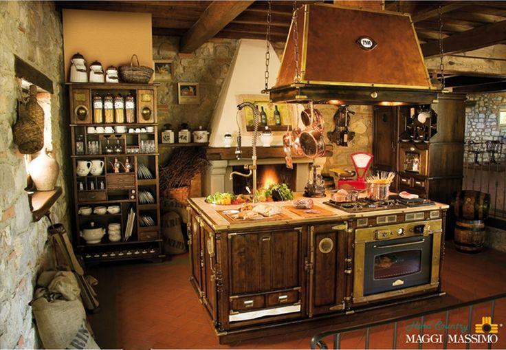 мебель для кухни в стиле кантри тоскана: