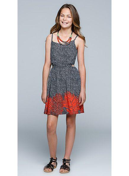 Urban Angel Border Print Jessie dress