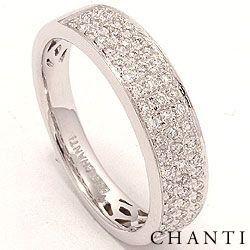 Diamant ring i 14 karat vitguld 0,31 ct