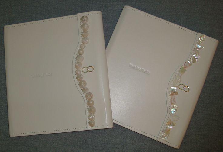 White elegant wedding album and wishbook