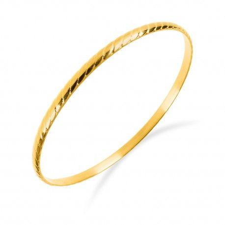 Zlatý skládací ocelový náramek vzorovaný