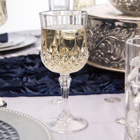 1704 10 oz Crystal-Like Plastic Wine Glasses