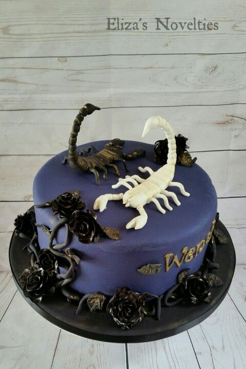 Black Rose Scorpion Cake