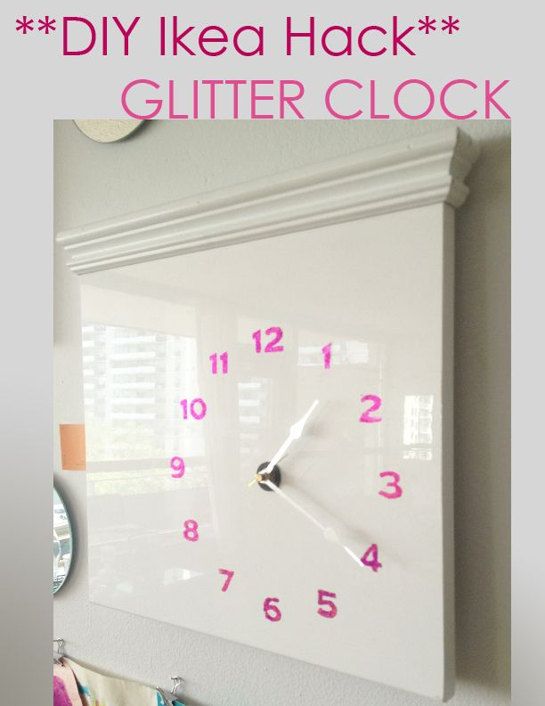 Diy ikea hack glitter clock tutorial by sketchystyles for Whatever clock diy