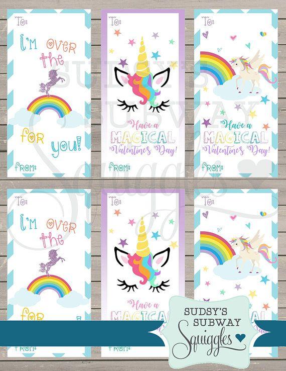 Unicorn Valentine's Day cards unicorn classroom | Unicorn ...