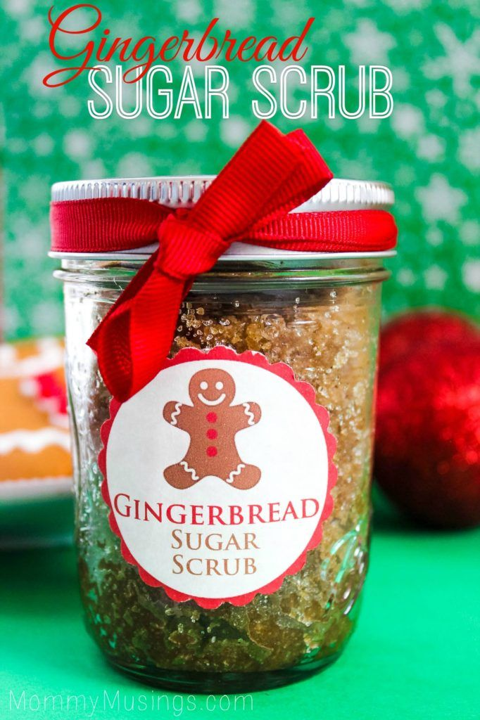 Quick, Easy & Inexpensive Homemade Gift Idea: DIY Gingerbread Sugar Scrub Recipe with Free Printable Labels!